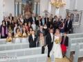 Gruppebillede fra bryllup i Villingerød kirke