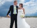 Brudepar på stranden