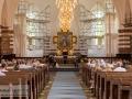 Kirkerummet under reparation med stilladser :-(