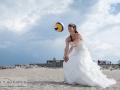 En beachvolleyball brud