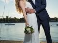 Brudepar på molen