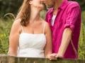 Bryllupsfoto i den dejlige danske natur