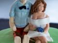 Brudens søster havde selv lavet udsmykning af bryllupskagen