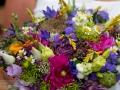 Brudebuket med blomster fra den danske fauna