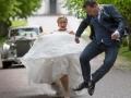 Et brudepar i hopla