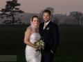 Aftenbillede af brudeparret