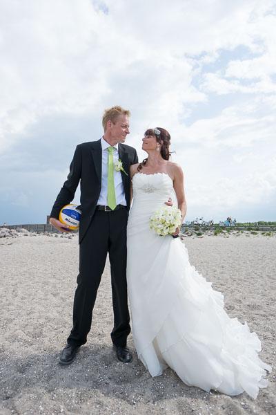 Brudepar på Amager Strandpark
