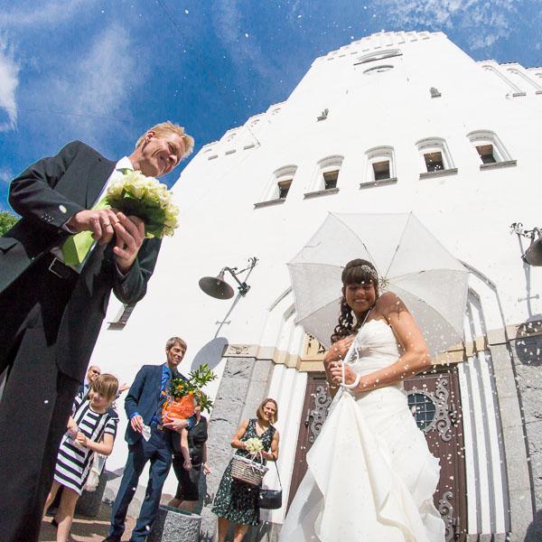 Ris på brudeparret