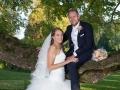 Brudepar i slotsparken