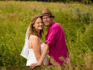 Med interesse for hiking, var det naturligt at tage billeder af brudeparret i den vilde natur.